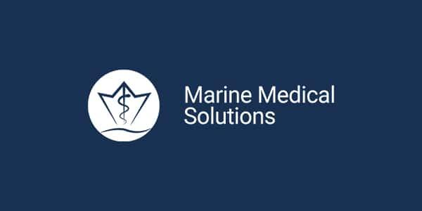 Marine Medical Solutions Logo negativ